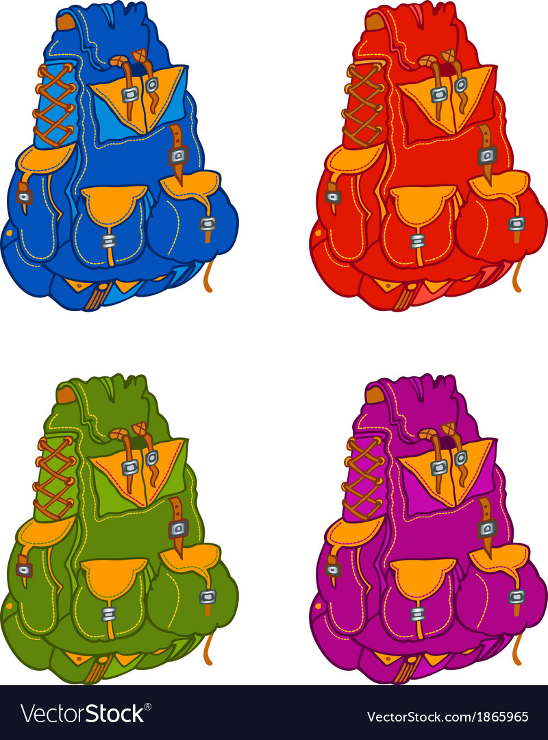 Travel backpacks vector | Price: 1 Credit (USD $1)