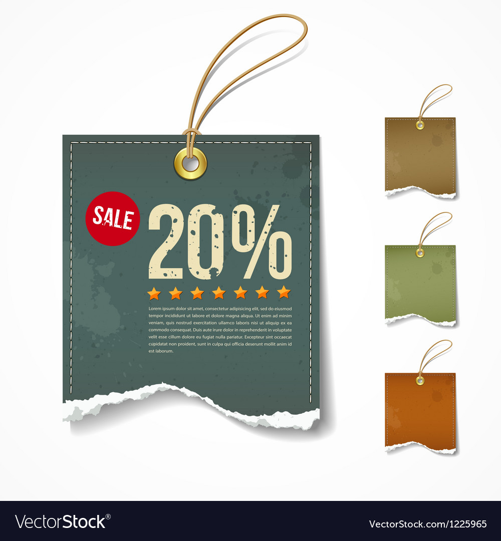 Vintage label ripped paper sale for business vector | Price: 1 Credit (USD $1)
