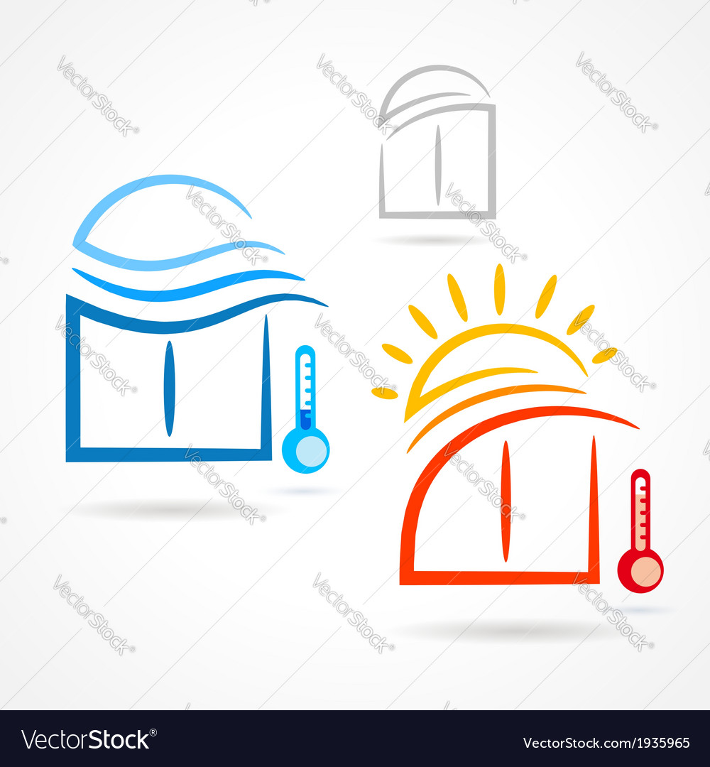 Windows set emblem sun wind symbol element icons vector | Price: 1 Credit (USD $1)