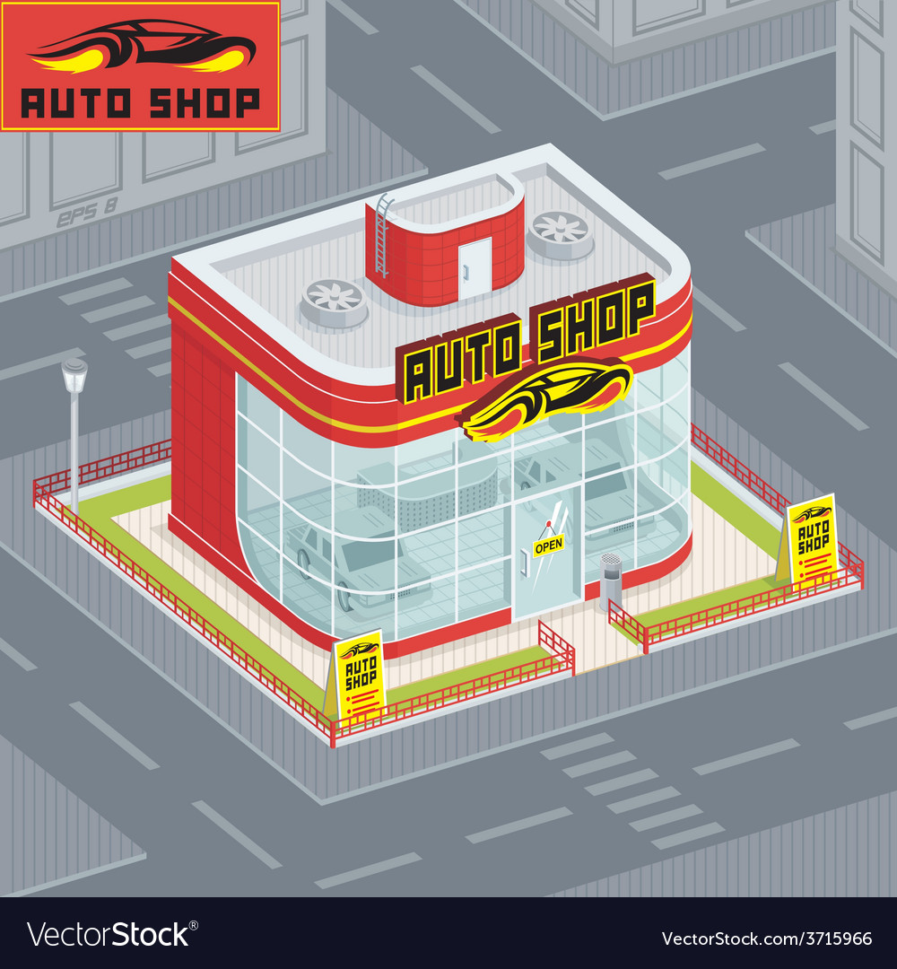 Auto shop vector | Price: 1 Credit (USD $1)