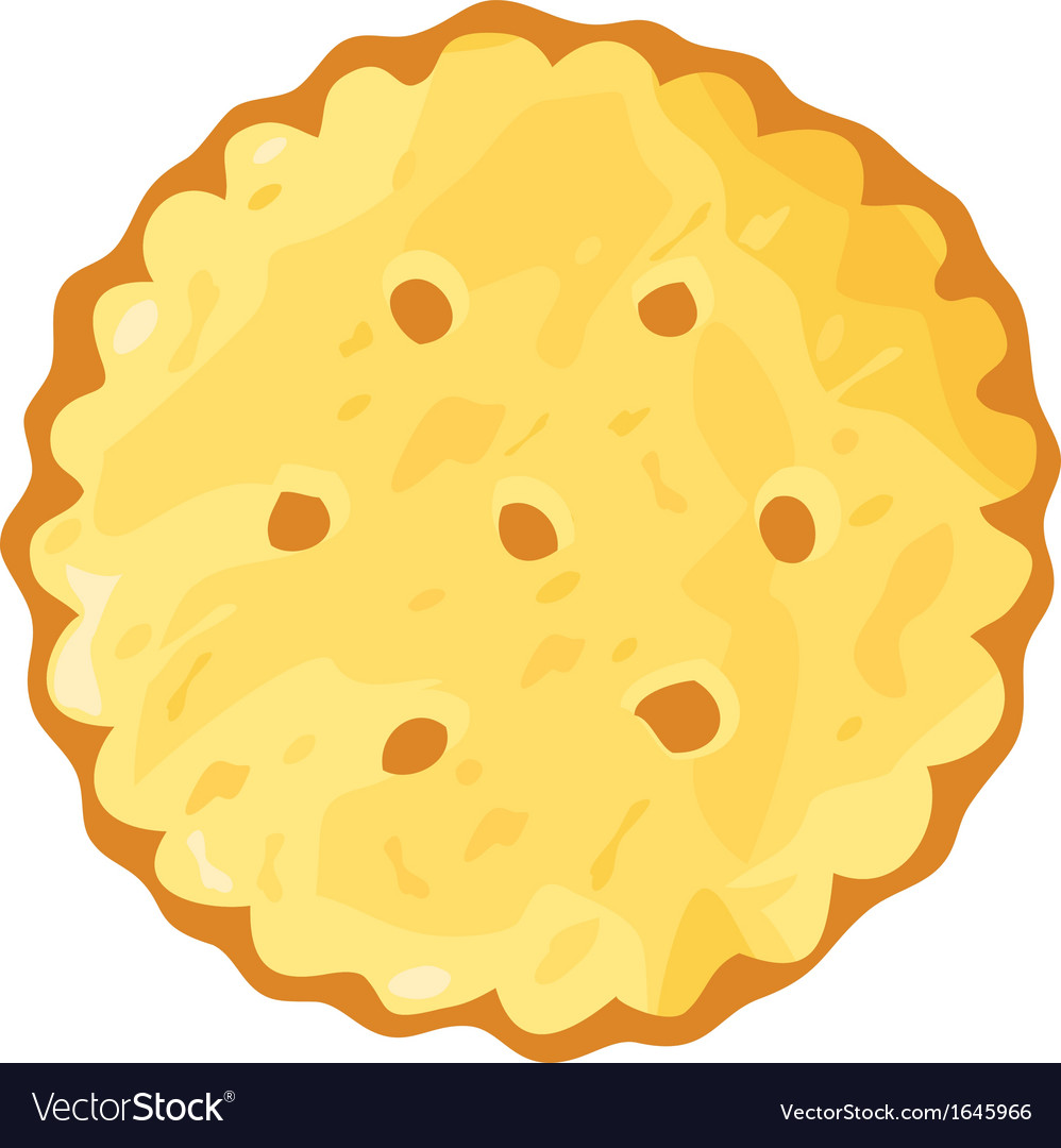 Biscuit cookie cracker vector | Price: 1 Credit (USD $1)