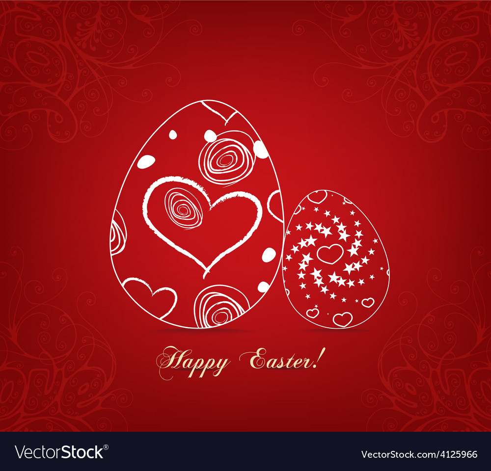 Floral easter egg sweet love vector | Price: 1 Credit (USD $1)