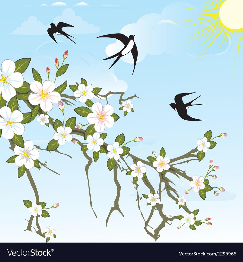 Flower background pattern vector | Price: 3 Credit (USD $3)