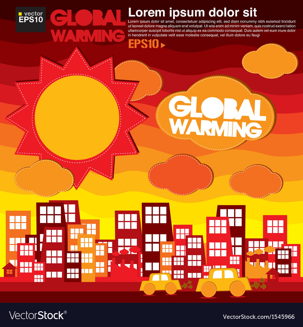 Global warming concept eps10 vector | Price: 1 Credit (USD $1)