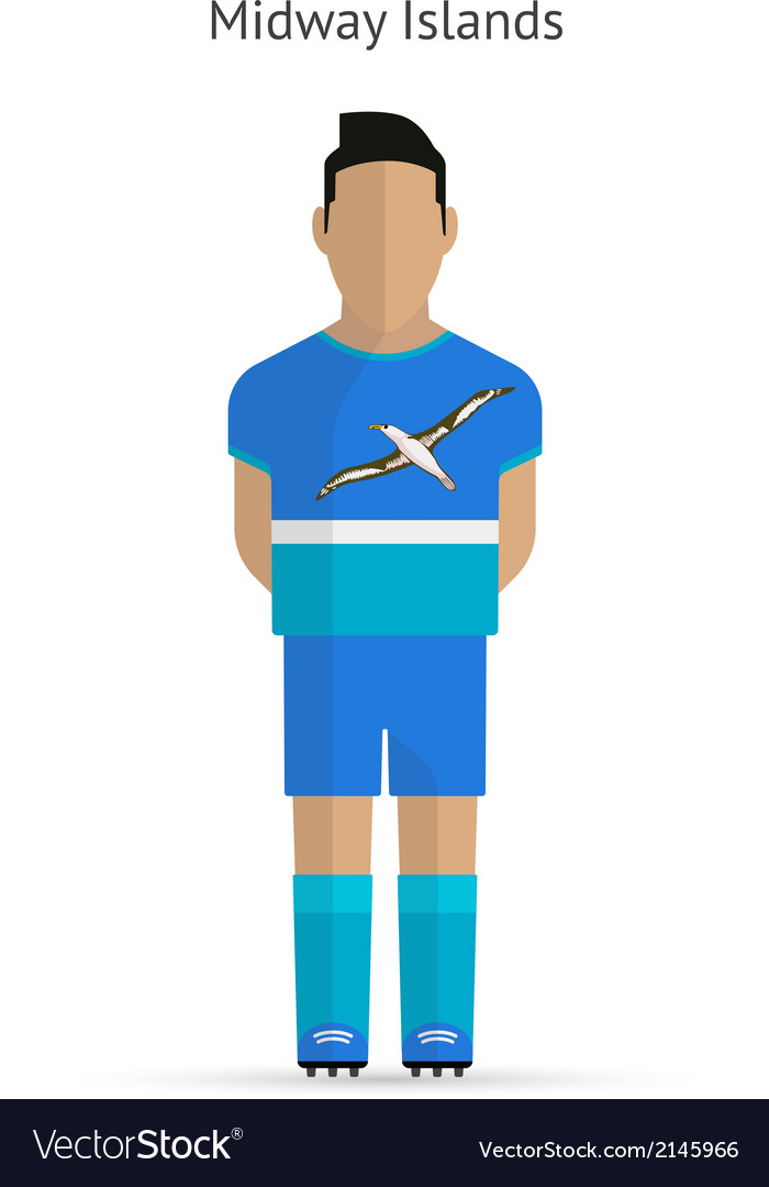 Midway islands football player soccer uniform vector | Price: 1 Credit (USD $1)