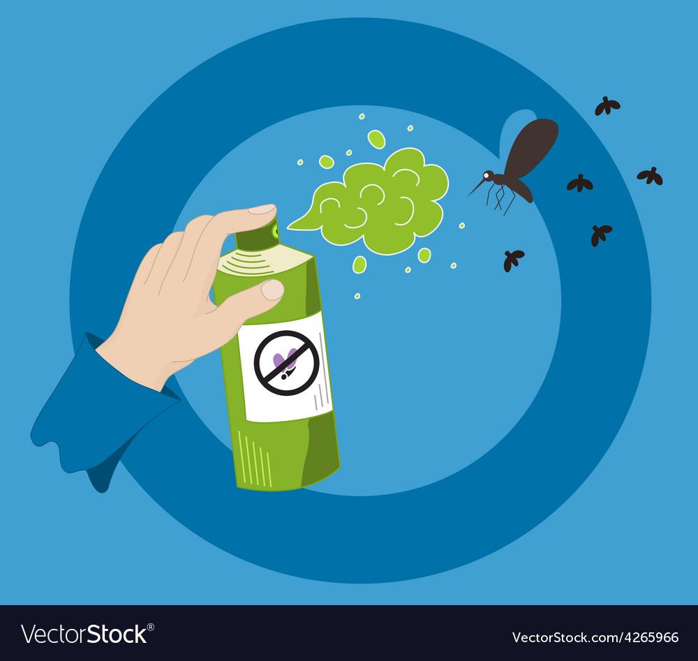 Mosquito spray vector | Price: 1 Credit (USD $1)
