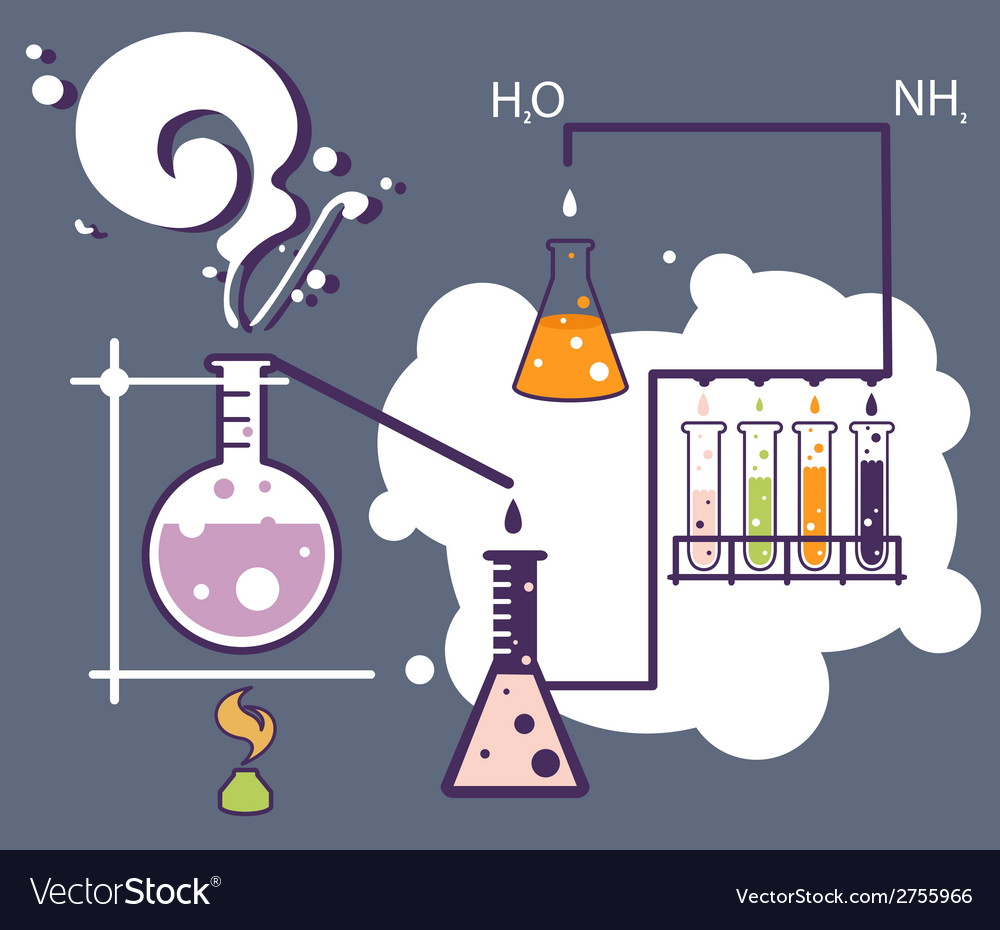 Old science and chemistry infographic laboratory vector | Price: 1 Credit (USD $1)