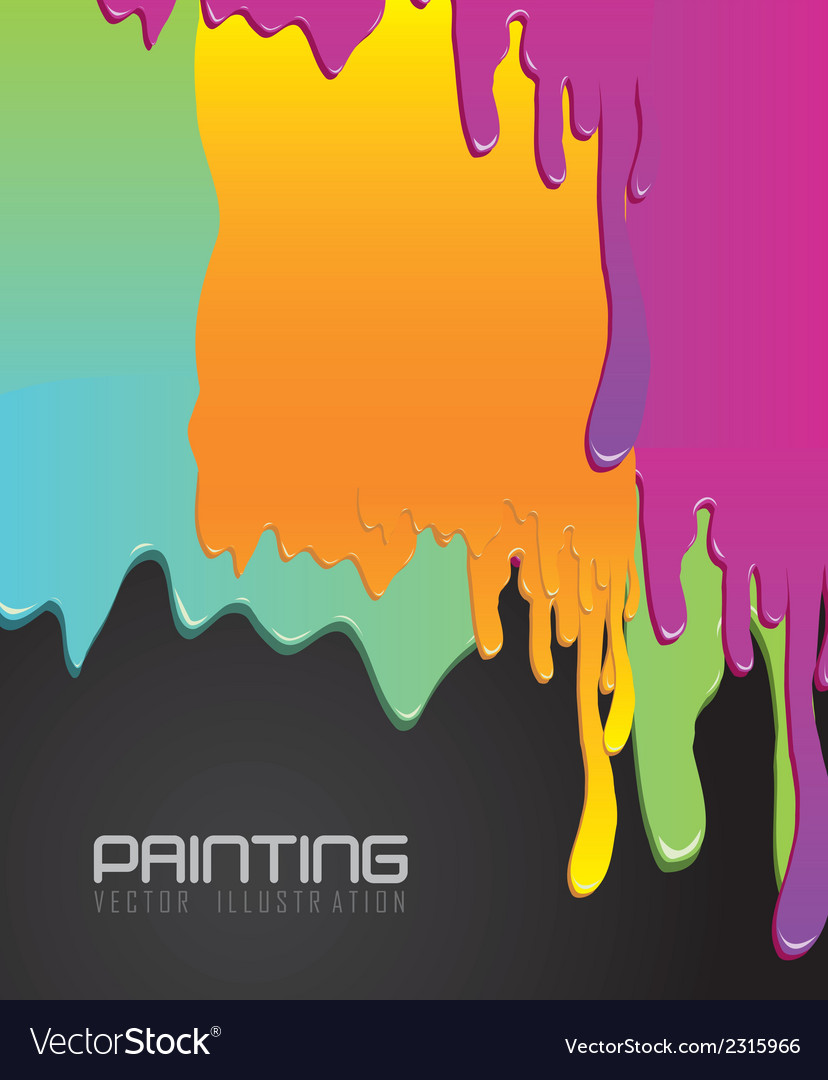 Paint dripping vector | Price: 1 Credit (USD $1)