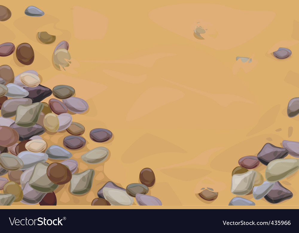 Pebbles on sand vector | Price: 1 Credit (USD $1)