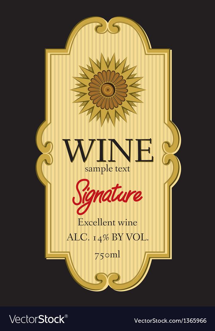 Wine label design vector   Price: 1 Credit (USD $1)