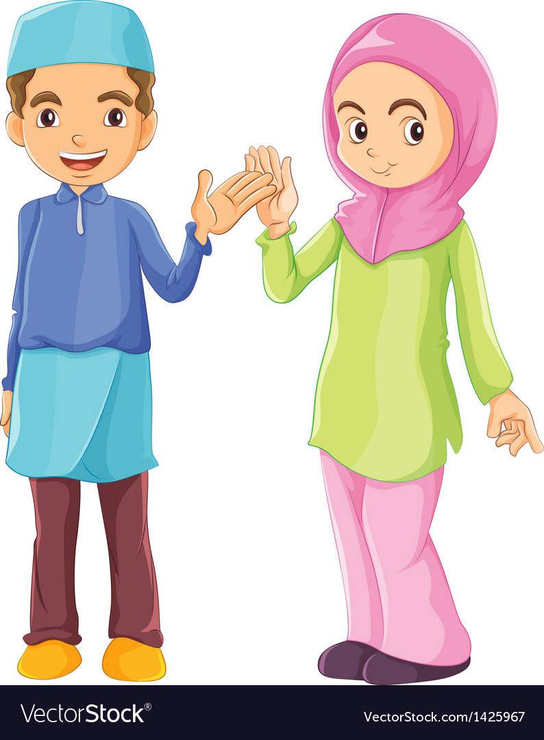 A male and a female muslim vector   Price: 1 Credit (USD $1)
