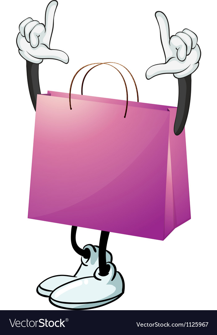 A purple bag vector   Price: 1 Credit (USD $1)