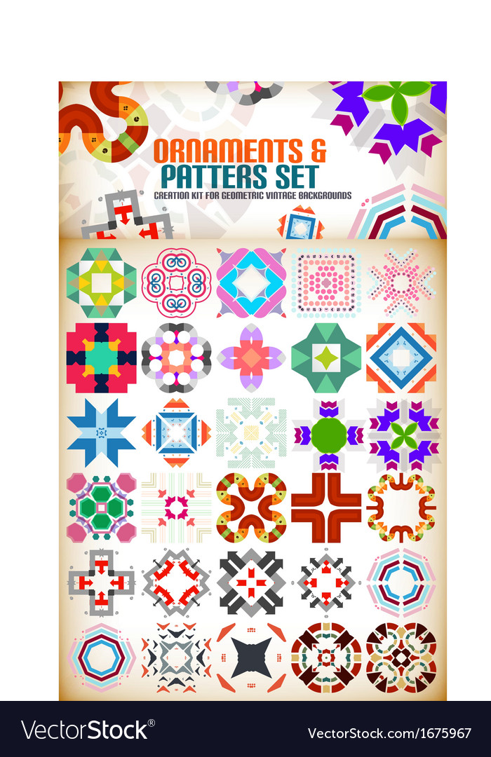 Abstract geometric vintage retro shapes for vector | Price: 1 Credit (USD $1)