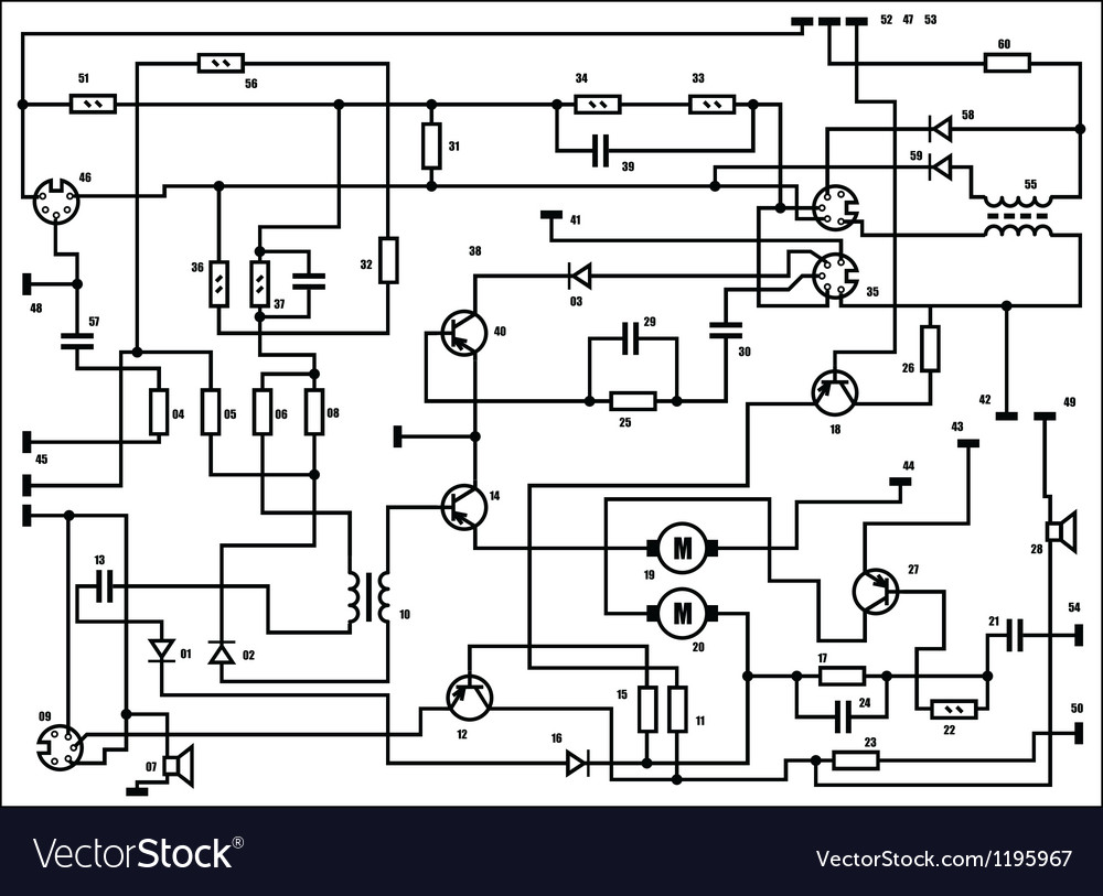 Circuit board schematic pattern vector | Price: 1 Credit (USD $1)