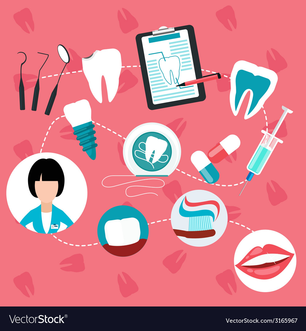 Dental treatment and teeth helth infographic vector | Price: 1 Credit (USD $1)