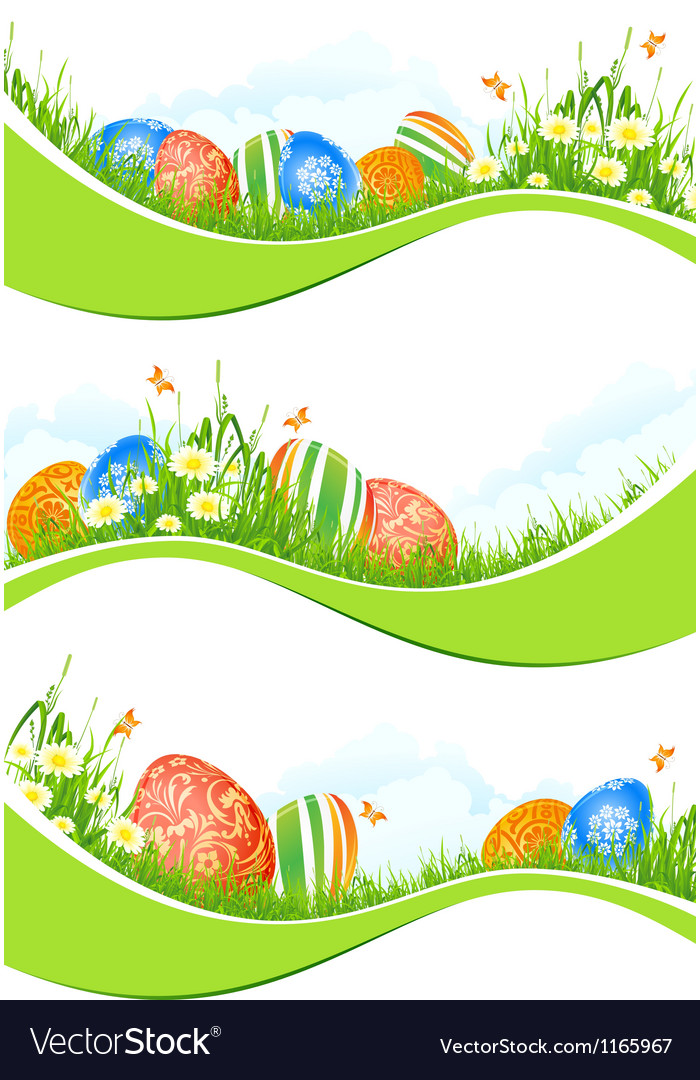 Easter banners set vector | Price: 3 Credit (USD $3)