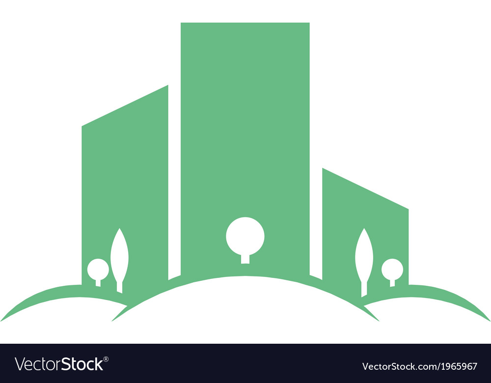 Eco buildings 03 vector | Price: 1 Credit (USD $1)