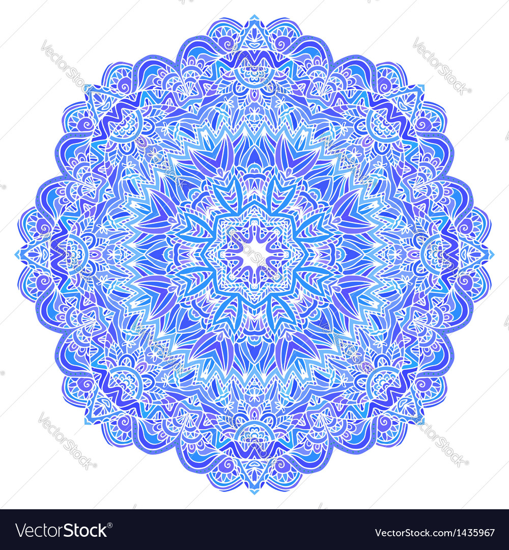 Lacy ornate blue napkin vector | Price: 1 Credit (USD $1)