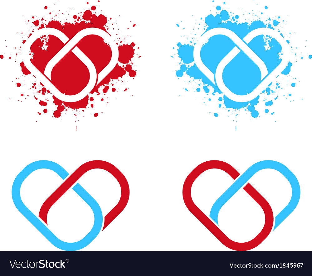 Link connected heart vector | Price: 1 Credit (USD $1)