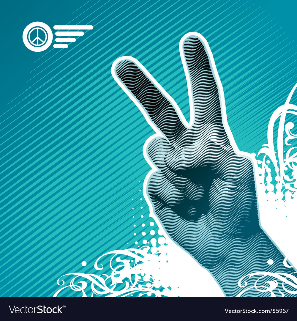 Peace hand vector | Price: 1 Credit (USD $1)