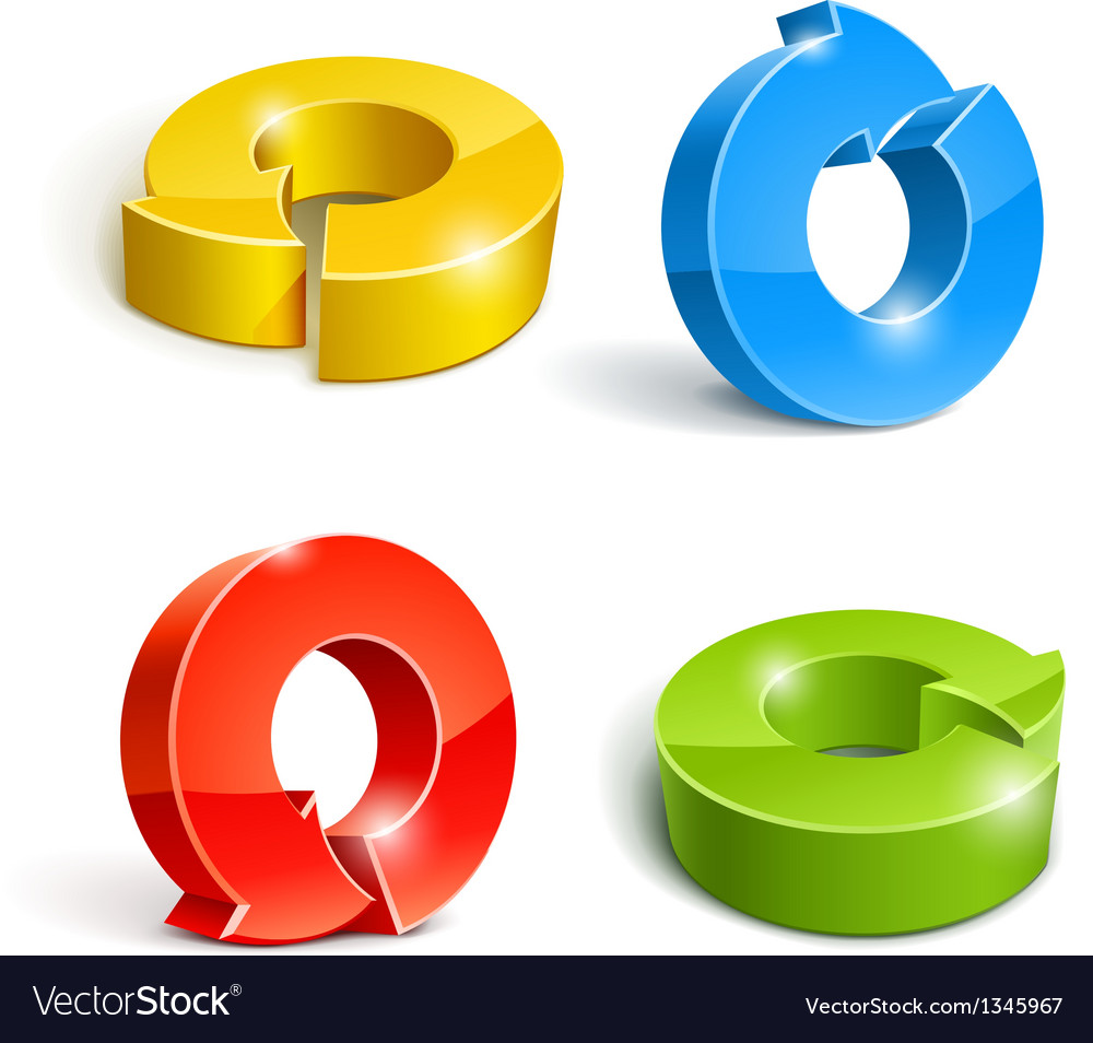 Set of icon pointer arrow 3d vector | Price: 1 Credit (USD $1)