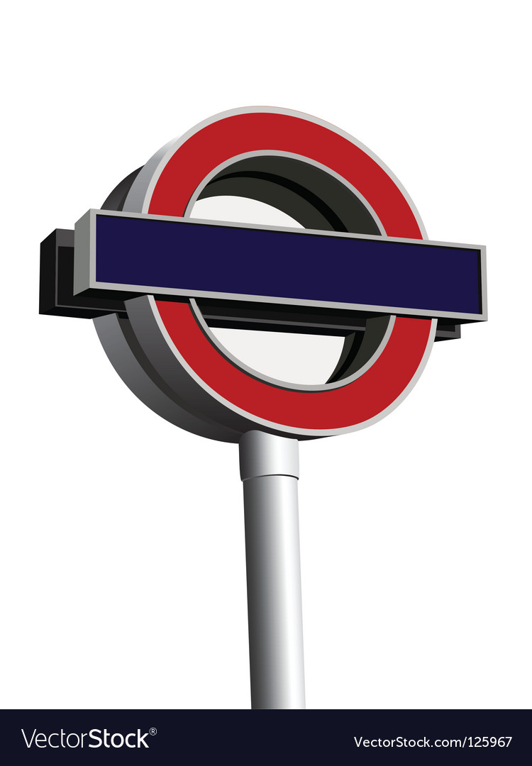 Signpost of london underground vector | Price: 1 Credit (USD $1)