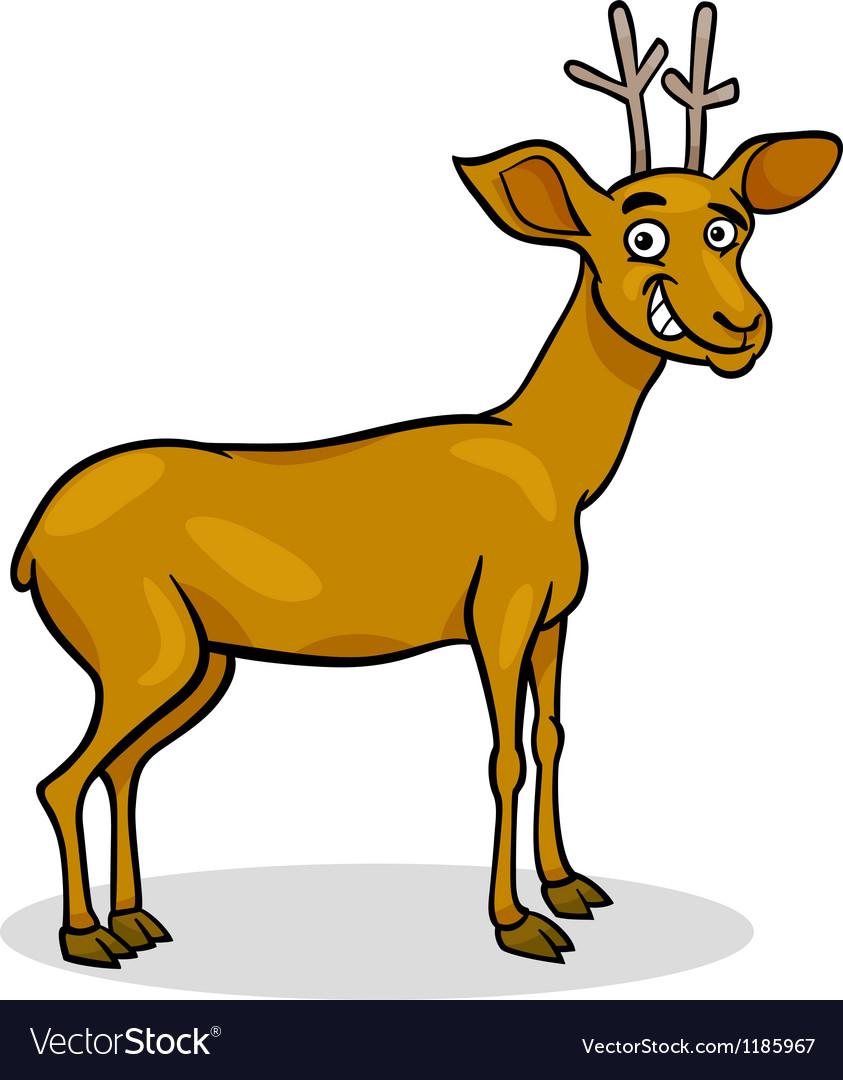 Wild deer cartoon vector | Price: 1 Credit (USD $1)