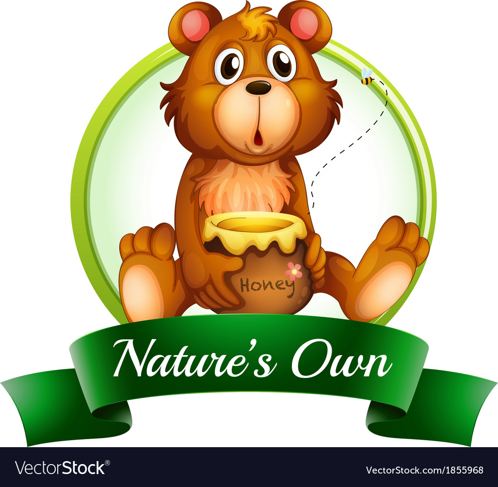 A natures own label with a bear vector | Price: 1 Credit (USD $1)