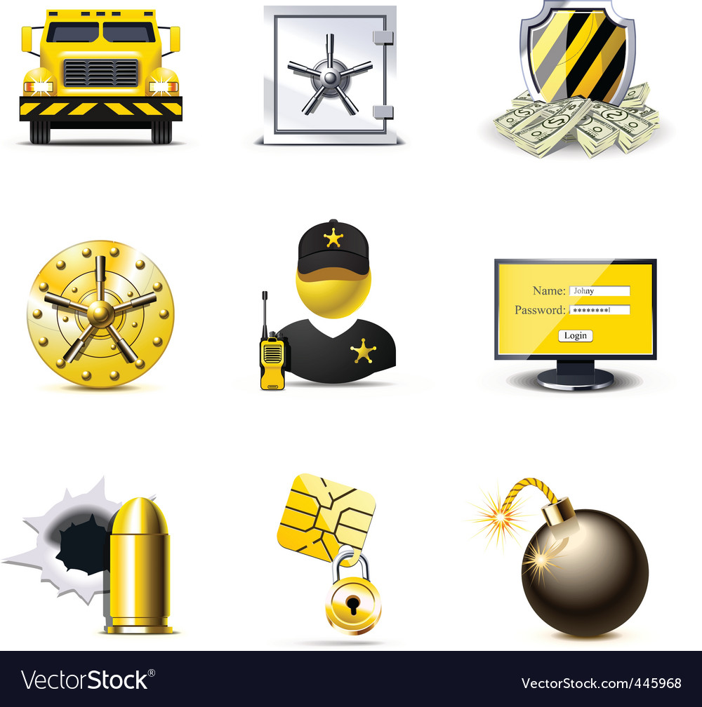 Bank security icons | bella vector | Price: 3 Credit (USD $3)