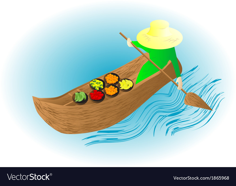 Boat market vector | Price: 1 Credit (USD $1)