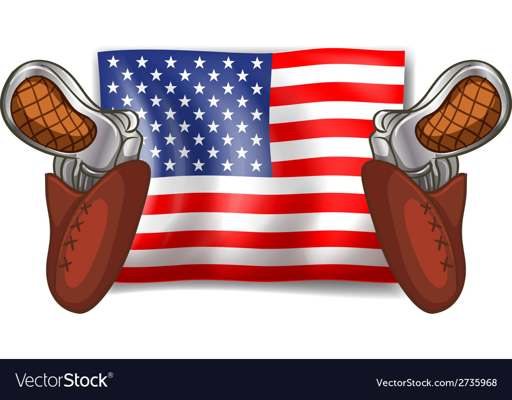 Flag and guns vector | Price: 1 Credit (USD $1)