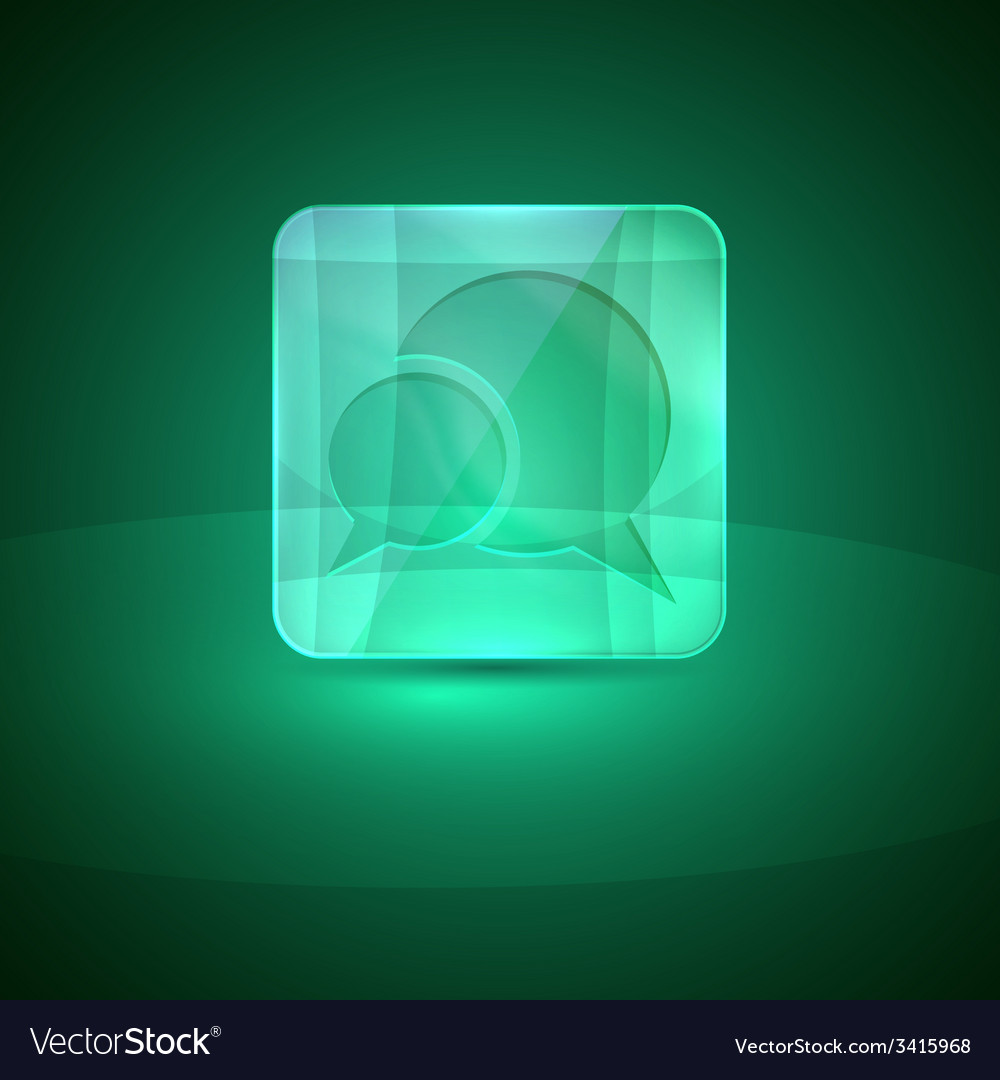 Glass icon with speech bubbles vector | Price: 1 Credit (USD $1)