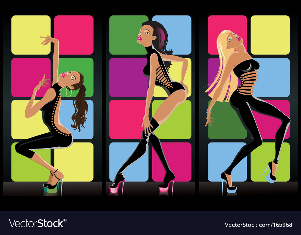 Go go girls vector | Price: 3 Credit (USD $3)