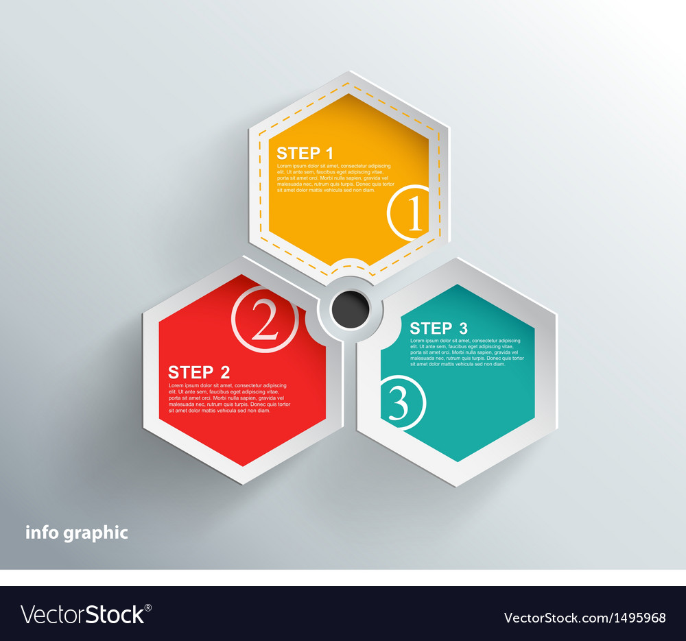 Info graphic objects with place for your text vector | Price: 1 Credit (USD $1)