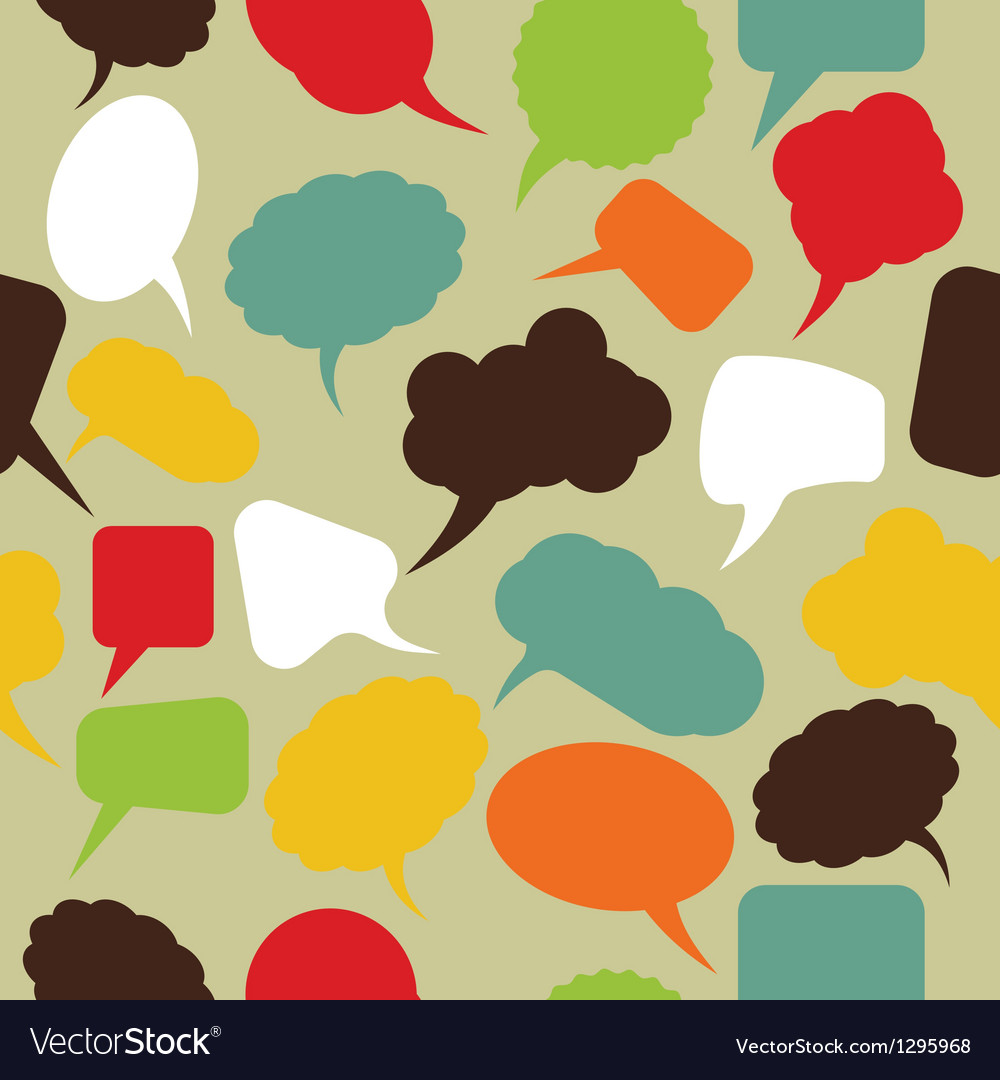 Retro speak bubbles vector | Price: 1 Credit (USD $1)
