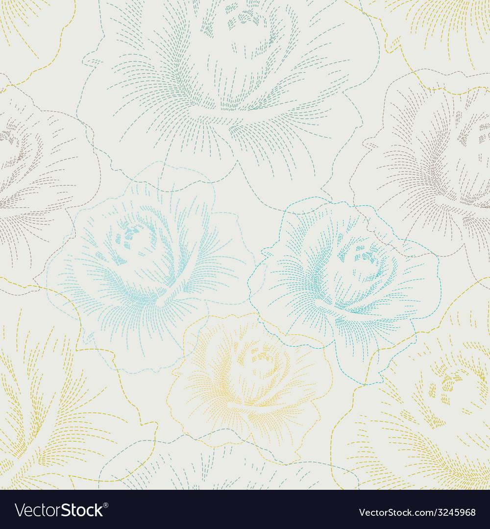Rose seamless pattern vector