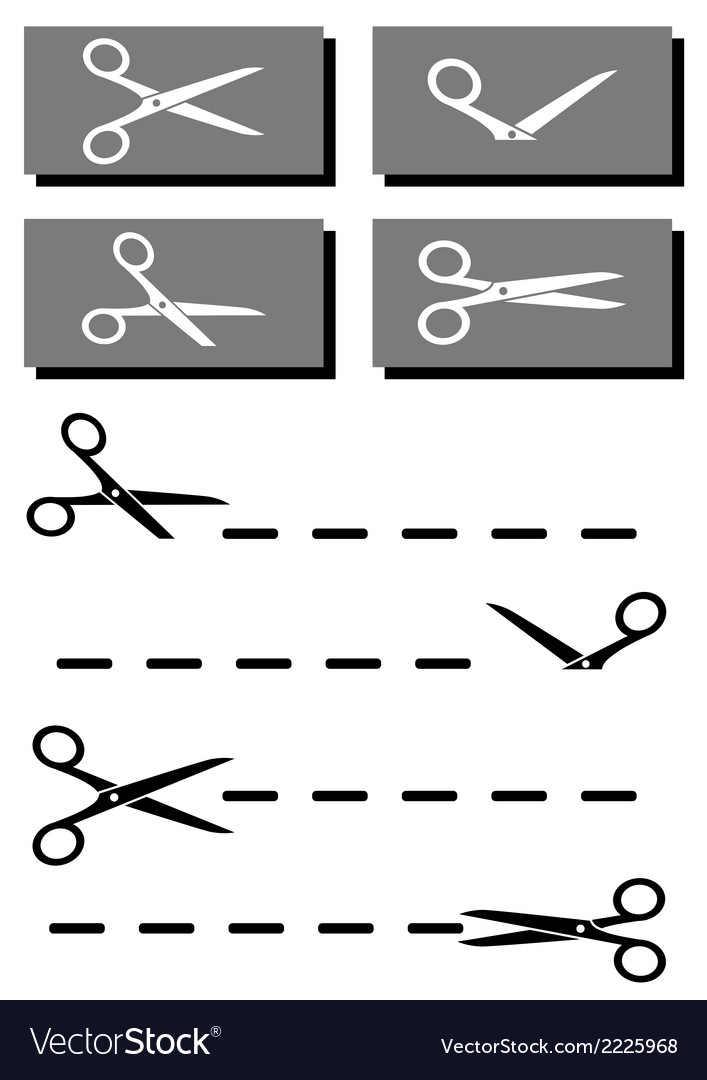 Set coupon scissors and dotted line vector | Price: 1 Credit (USD $1)