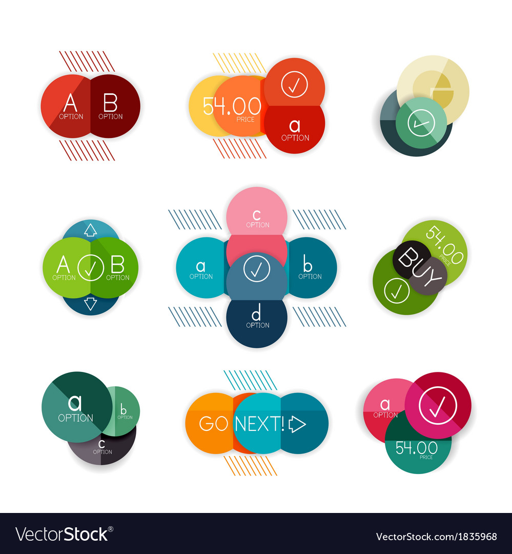 Set of circle shape infograph templates vector | Price: 1 Credit (USD $1)