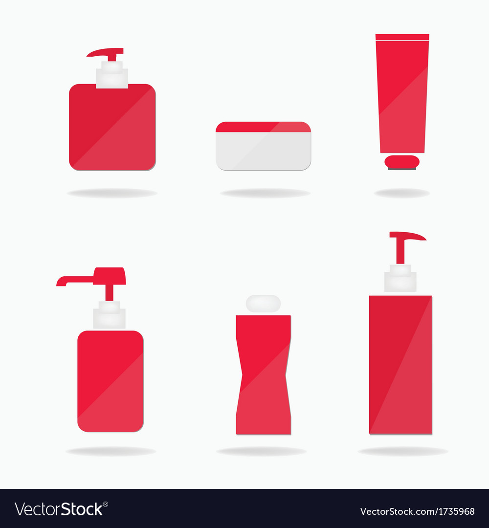 Set of cosmetic bottles vector | Price: 1 Credit (USD $1)