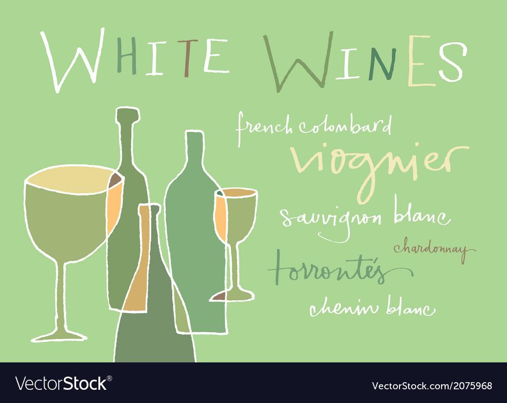 White wines varieties vector | Price: 1 Credit (USD $1)