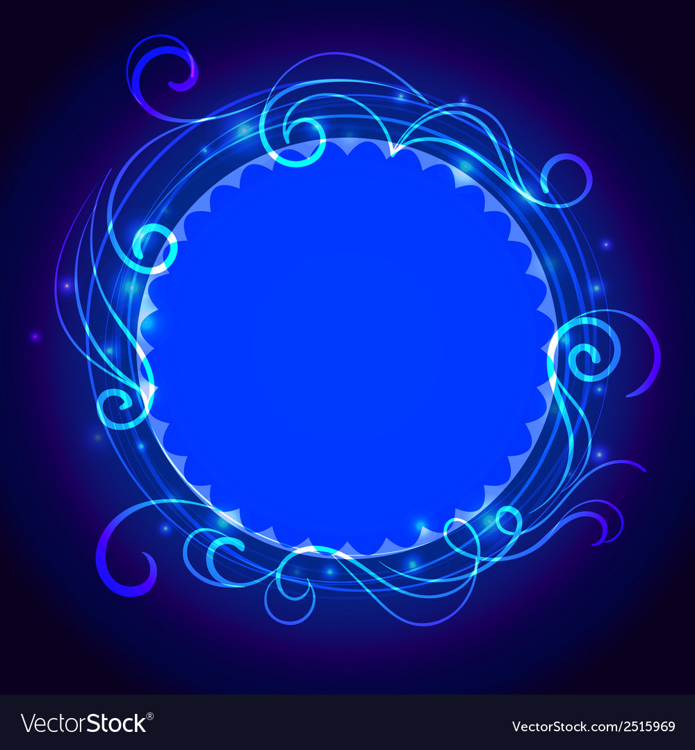 Abstract blue mystic lace background with swirl vector | Price: 1 Credit (USD $1)