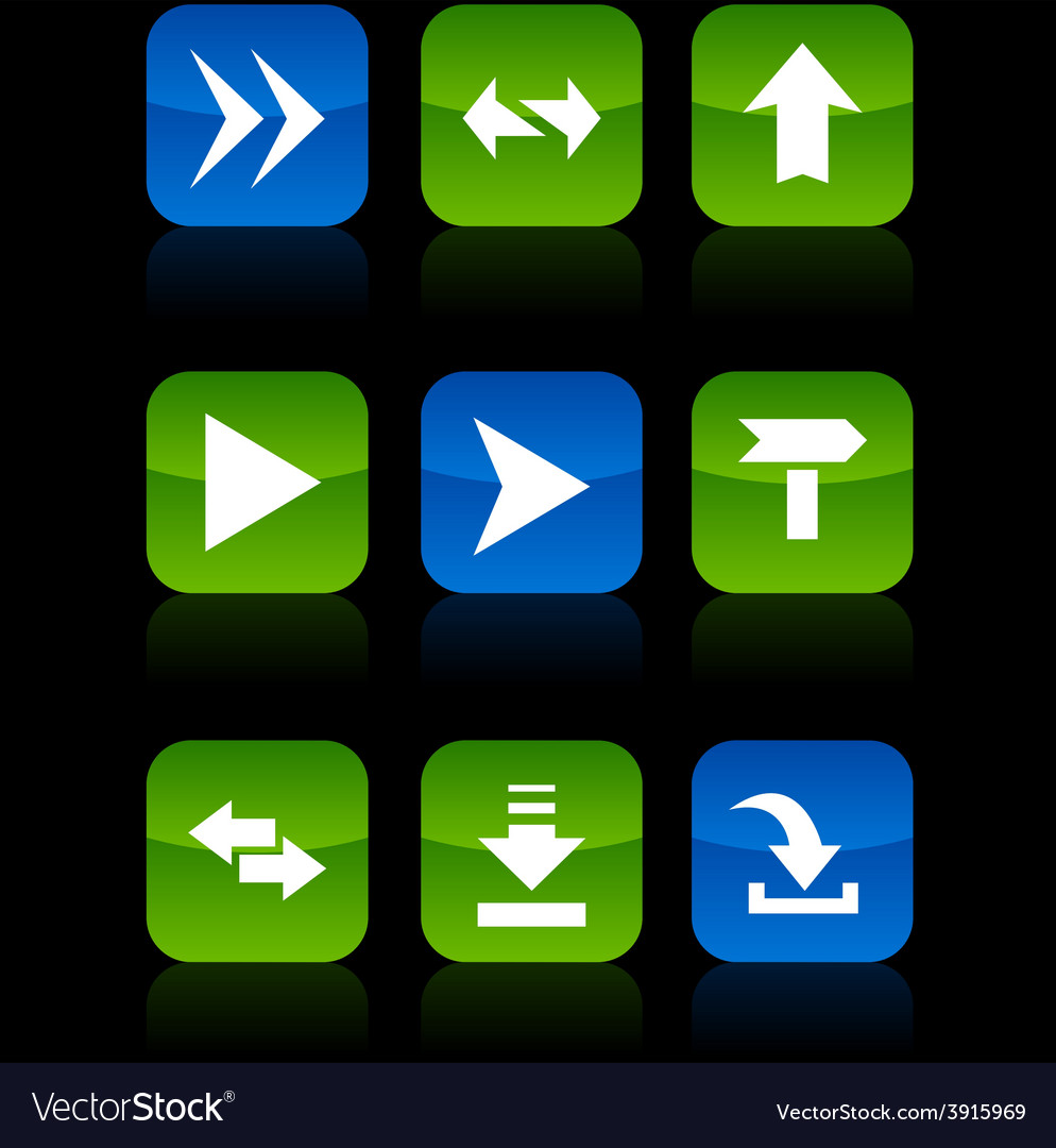 Arrows buttons vector | Price: 1 Credit (USD $1)