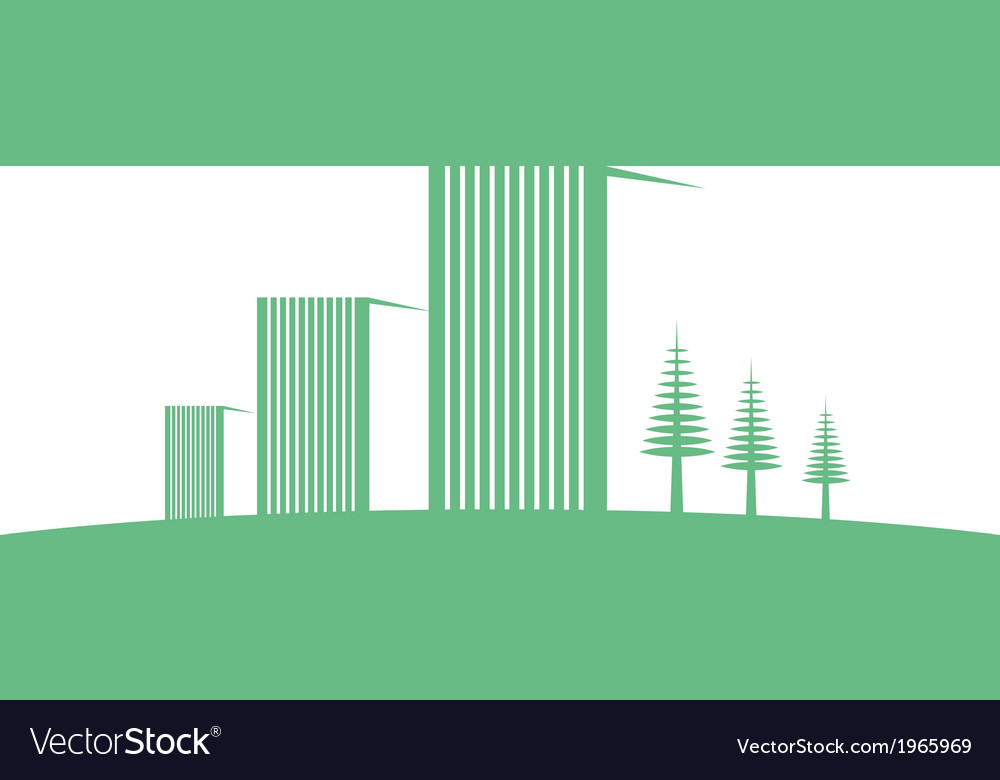 Eco buildings 04 01 vector | Price: 1 Credit (USD $1)