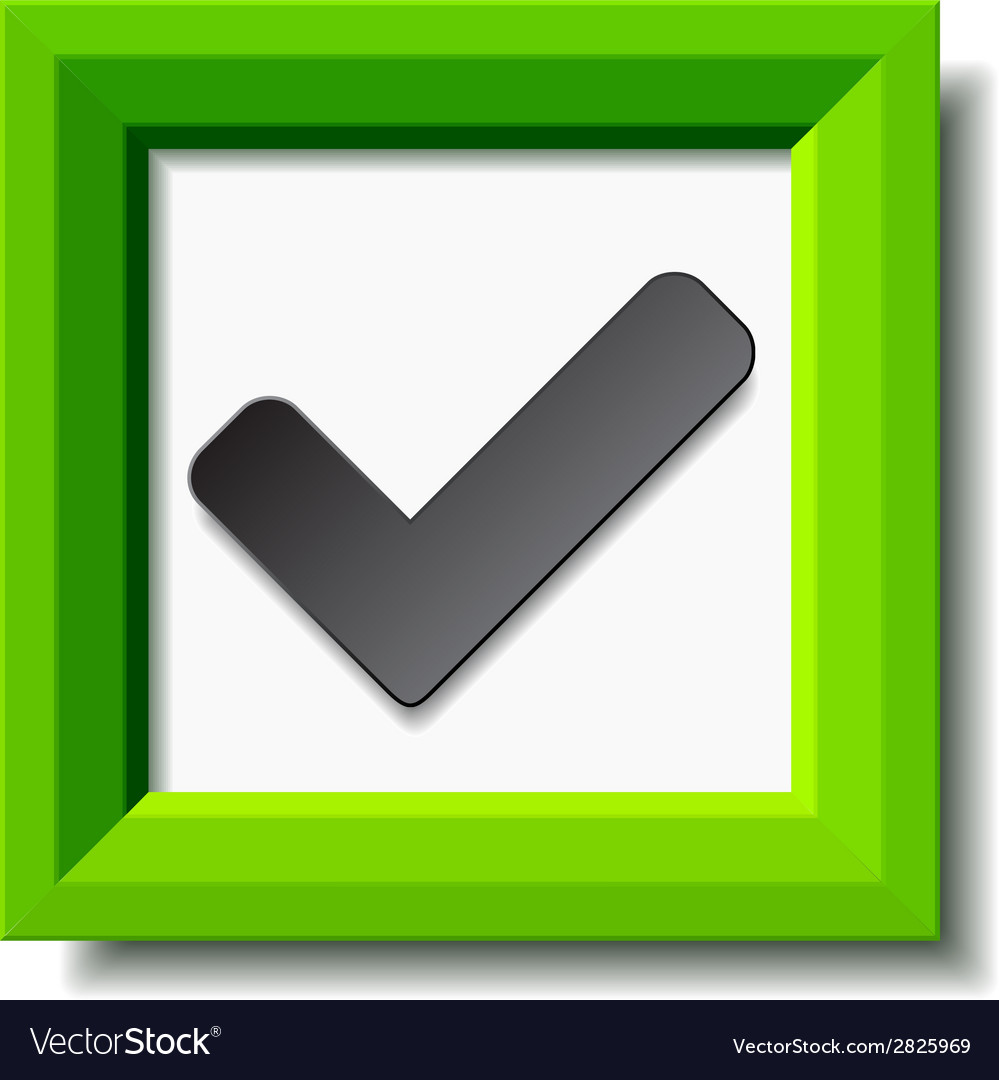 Green positive checkmark vector | Price: 1 Credit (USD $1)