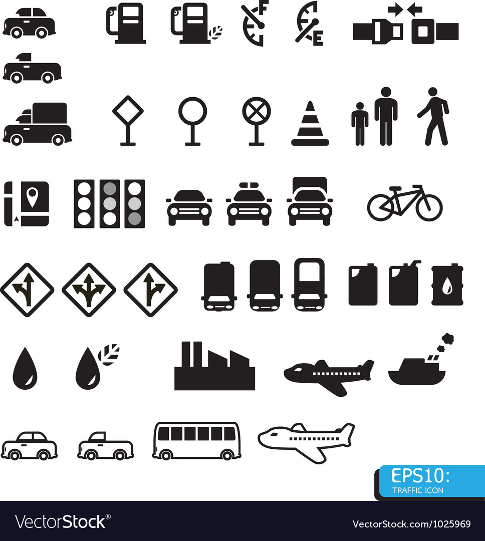 Icon traffic vector | Price: 1 Credit (USD $1)