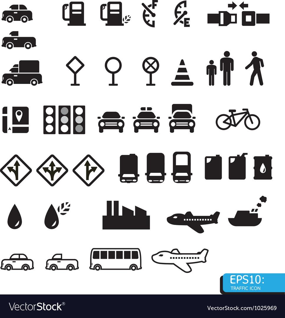 Icon traffic vector | Price: 1 Credit (USD $1)