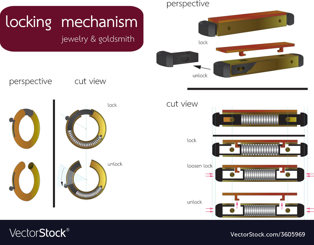 Locking mechanism vector | Price: 1 Credit (USD $1)