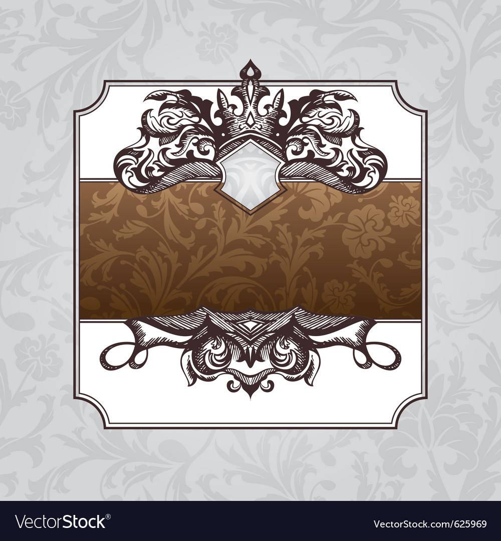 Royal ornate vintage frame vector | Price: 1 Credit (USD $1)