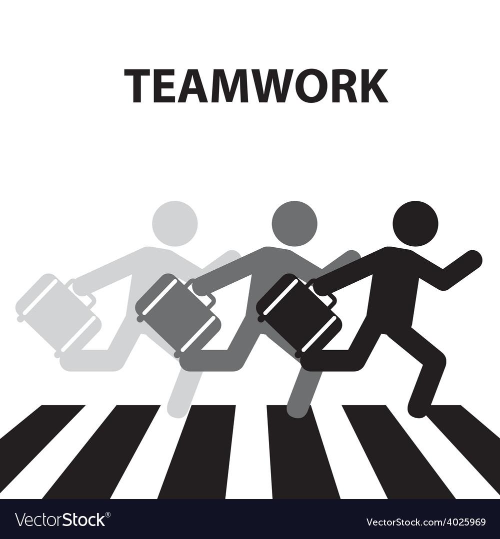 Teamwork crosswalk vector | Price: 1 Credit (USD $1)