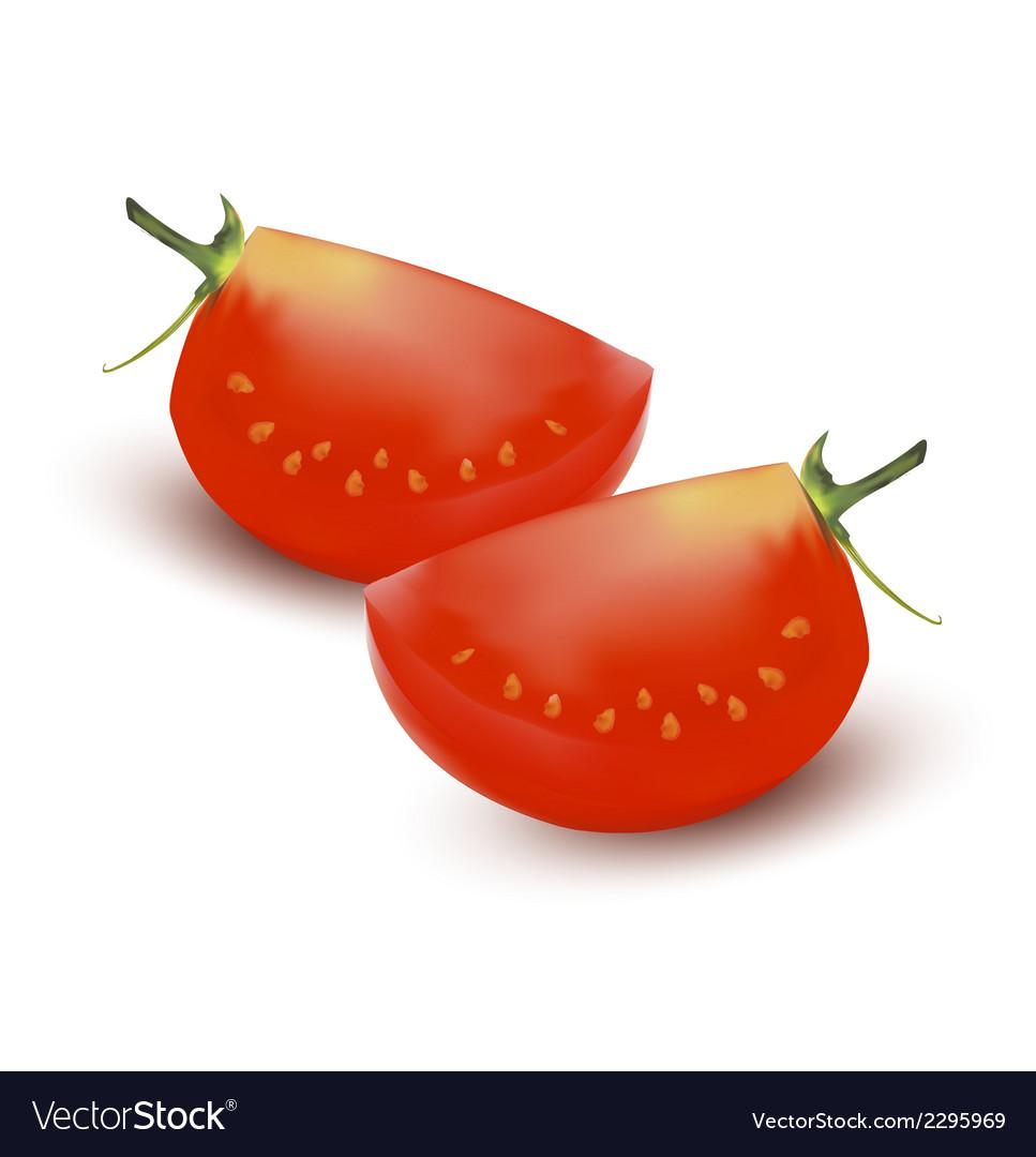 Tomato slice vector | Price: 1 Credit (USD $1)